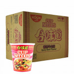 Nissin Instant Cup Noodles Spicy Beef 24x75g / 合味道香辣牛肉杯面 24x75克