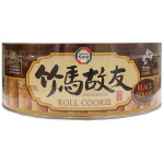 Surasang Roll Cookie With Black Sesame Flav 365g / 竹马故友 黑芝麻味夹心卷 365克