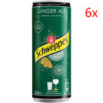 Schweppes Ginger Ale Drink 330 ml x 6 cans (1 pak) / Schweppes 姜味碳酸饮料 330毫升 6瓶装