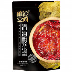 Malakongjian Hot Pot Soup Base With Pickled Mustard 320G / 麻辣空间 清油酸菜火锅底料 320克