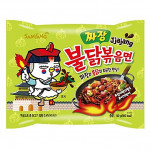 Samyang Hot Chicken Flavor Jjajang 140g / 三养 炸酱味火鸡面 140克