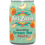 Arizona Sparkling Green Tea Peach Flav. 330ml / 亚利桑那 蜜桃味气泡冰绿茶 330毫升