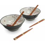 Emro Ramenbowl Set /6 Acer Leaf / 日式枫叶碗筷套装