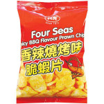 FOUR SEAS Spicy BBQ Flavour Prawn Chips 30g /四洲 香辣烧烤味脆虾片