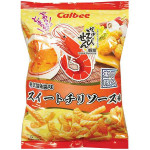 Calbee Thai Sweet Chilli Sauce Flav. Prawn Crackers 75g / 卡乐比 泰式甜辣酱薯条 75克