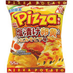 Calbee Salted Egg Yolk&crab Roe Pizza Potato Chips 55g / 卡乐比 金沙蟹黄味薯片 55克