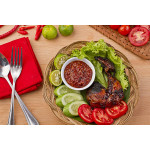 Ayam Bakar Bumbu Rujak: Grilled Chicken in Spicy Coconut Sauce