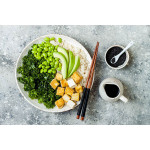 Macro Bowl With Tofu And Soy Dressing