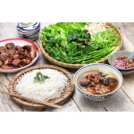 Bun Cha: Rice Vermicelli with Grilled Pork