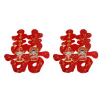 Oriental Double Happiness Wall Decorations 2 pieces 46x42cm / 拜堂成亲喜字贴 2张 46x42厘米
