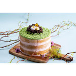 Easter Cake with Matcha Topping and Adzuki Whipped Cream
