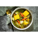 Sayur Asem: Sweet and Sour Tamarind Soup with Vegetables and Peanuts
