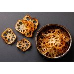 Spicy Lotus Root Chips in Salted Egg Yolk Sauce