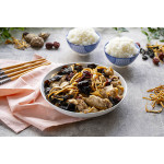 Steamed Chicken With Lily Flowers And Black Fungus