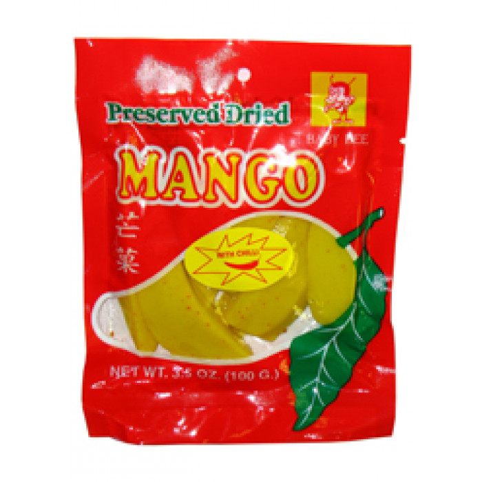 Penta Preserved Dried Mango With Chilli 100g 辣芒果片
