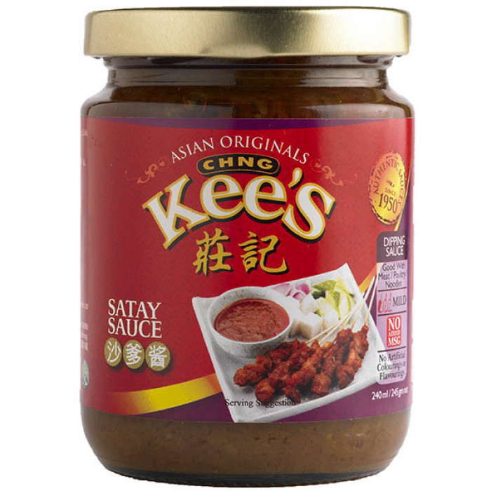CHNG Kee's Satay Sauce 240g / 庄记沙嗲酱 240克