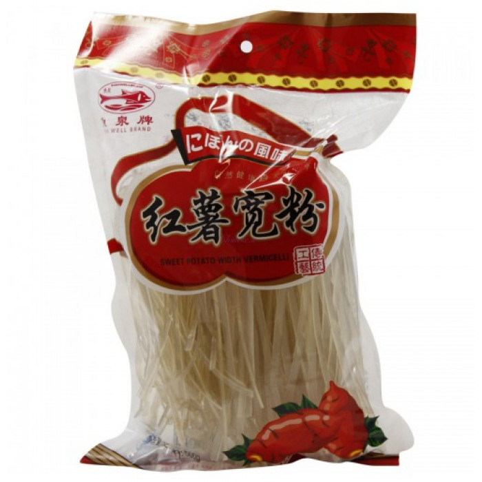 Fish Well Sweet Potato Vermicelli Thick 500g红薯宽粉