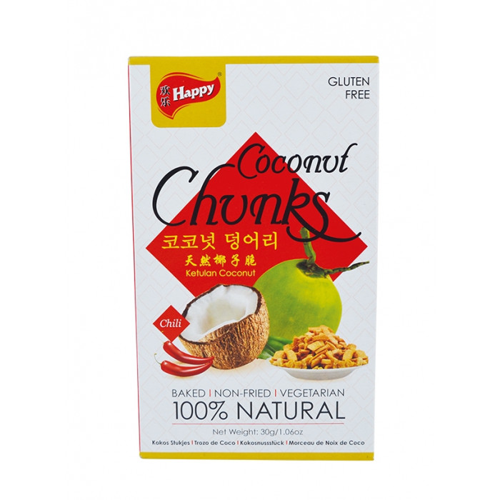 Happy Coconut Chunks Spicy 30g / 天然椰子脆辣味 30g