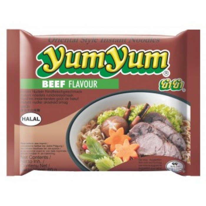 Yum Yum Instant Noodle Beef Flavour 30x60g