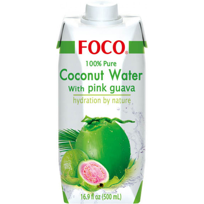 Foco Coconut Water With Pink Guava 500ml / 福口番石榴椰水 500ml