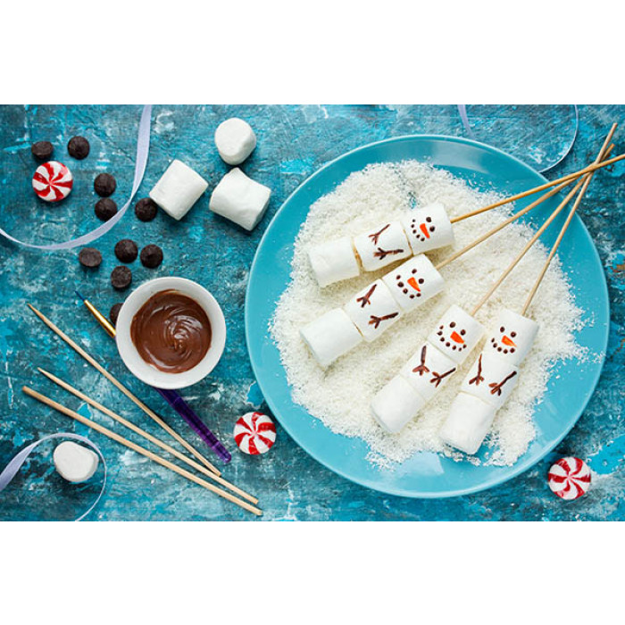 Marshmallows à la Olaf