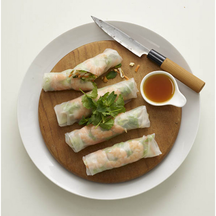 Rice Wraps Filled With Shrimps
