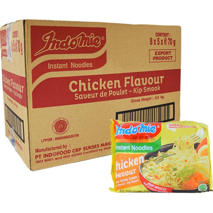 Indomie Instant Noodles Chicken 70gX40