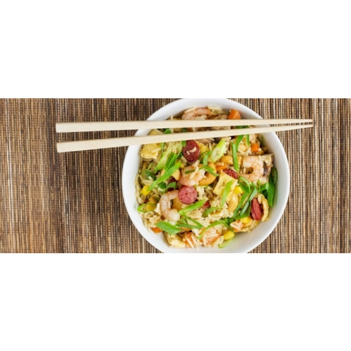 Cantonese Fried Rice with Chinese Sausage