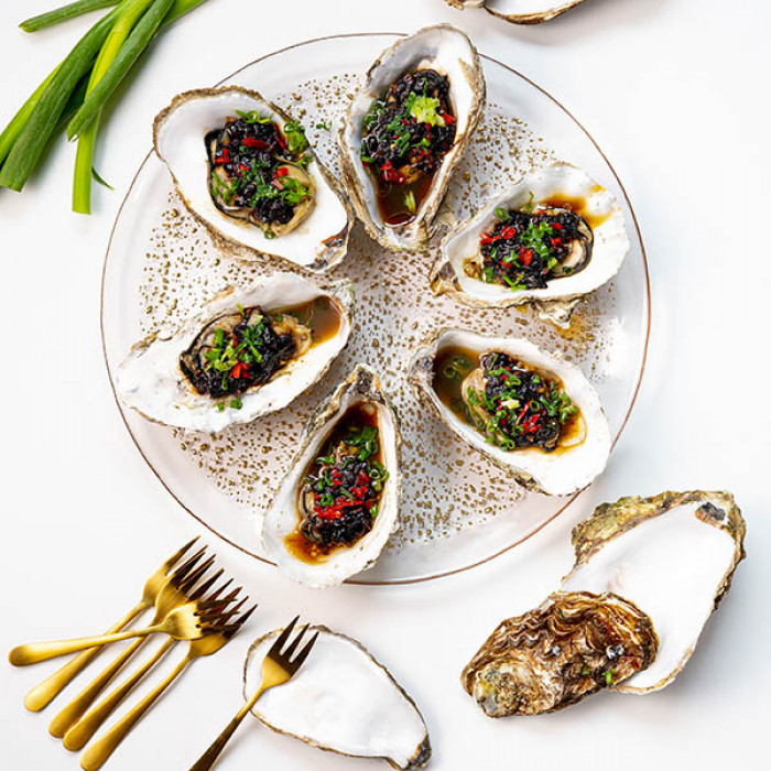 Steamed Oysters With Black Bean Sauce