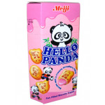 Meiji Hello Panda Biscuits with Strawberry Flavoured Filling 50g小熊猫草莓饼