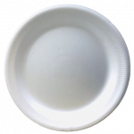 "World Food 9"" Plates Polysterene 100x / 一次性餐碟 100个"