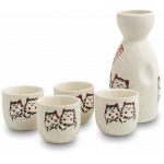 Oriental Sake Set 5DLG Kat Decor / 日式清酒杯组 猫咪款 5只