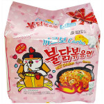 SAMYANG Hot Chicken Carbonara Ramen (5 pak x 130g) / 三养火鸡辣面 卡邦尼口味 5包x130g