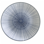 Oriental Round Plate Blue Stripes 6.5'' / 日式蓝线纹圆碟 6.5''
