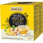 Gold Kill Natural Ginger Lemon Bag 20x3g / 金麒麟 纯天然姜茶(柠檬味)20x3克