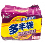 Baixiang Instant Noodles W. Beef & Vegetable Flav. 5x152g / 白象 老坛酸菜面 5袋装