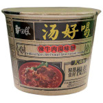 BAIXIANG Instant Bowl Noodles Spicy Beef Soup Flav. 107g / 白象 汤好喝系列 辣牛肉汤味碗面