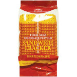 FOUR SEAS Chocolate Flavour Sandwich Cracker 156g / 四洲 朱古力味夹心饼干