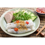 Banh Cuon: Vietnamese Rice Rolls Filled with Minced Pork and Black Mushrooms