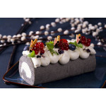 Black Sesame Cake Roll With Cream
