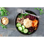 Macro Bowl With Adzuki Beans And Miso Dressing