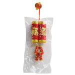 Oriental Fire Cracker Hanging Decoration 12x47cm / 招财进宝爆竹挂件 12x47厘米