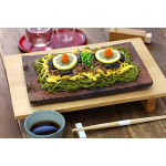 Kawara Soba: Matcha Noodles Cooked on a Roof Tile