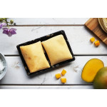 Pancake filled with mango and coconut cream