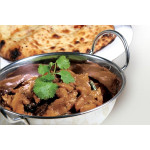 Rendang Chicken with Roti Paratha or Naan Bread