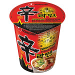 Nong Shim Shin Cup Noodle Soup Hot & Spicy 68g / 农心辛拉面杯面 68克