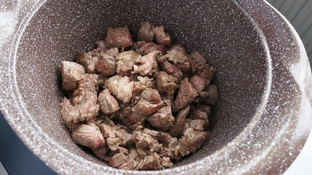 Photo of beef in a pan