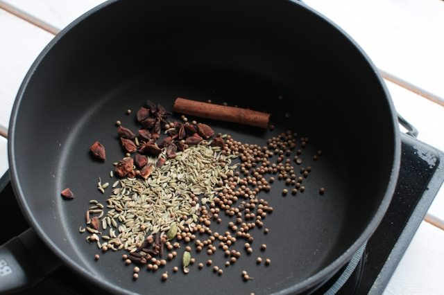 Photo of spices in a pan