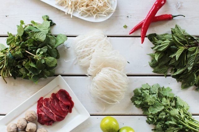 Photo of garnishes for pho