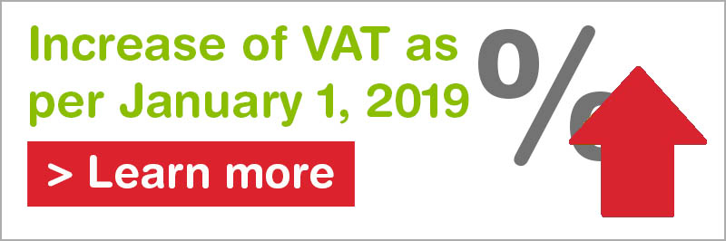 VAT increase banner